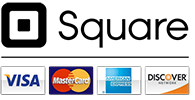 Square logo with credit cards